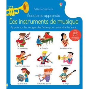 LIVRE 0-3 ANS ÉVEIL Livre - écoute et apprends ; les instruments