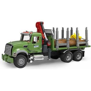 VOITURE - CAMION BRUDER - 02824 - Camion de transport de bois MACK
