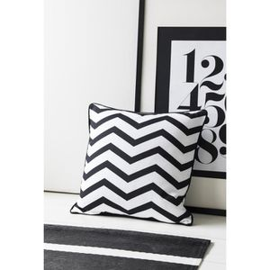 COUSSIN TODAY Coussin déhoussable 100% coton Zig Zag 40x40