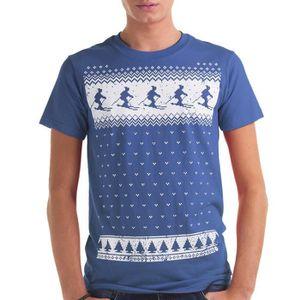 T-SHIRT Glow hommes dans le T-shirt foncé Ski - Alternativ