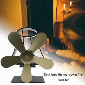 POÊLE À BOIS 5 feuilles La chaleur à Ventilateur pour poêle en