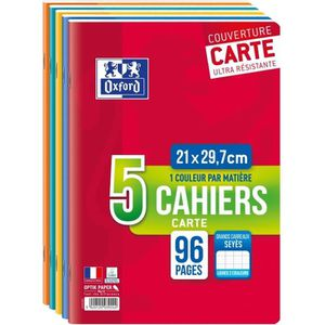CAHIER OXFORD - Lot de 5 cahiers agrafés 96 pages seyès 2