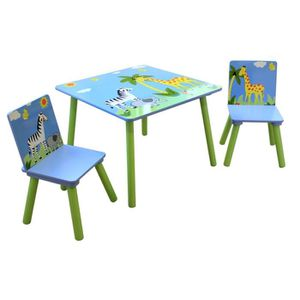 Table chaise enfant en bois achat vente table chaise for Table et chaise bebe 2 ans