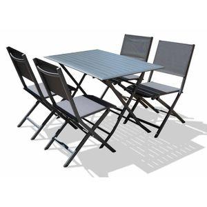 Table jardin aluminium pliable