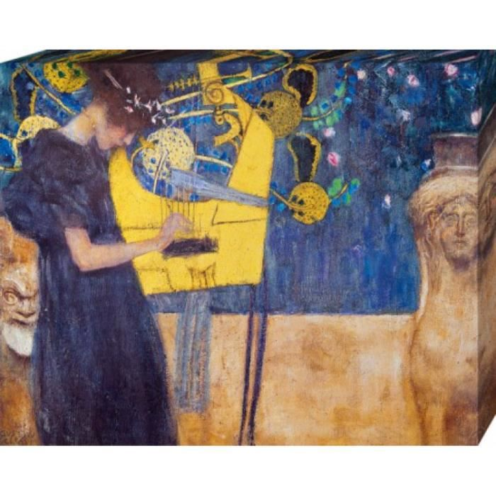 gustav klimt poster reproduction sur toile tendue sur. Black Bedroom Furniture Sets. Home Design Ideas