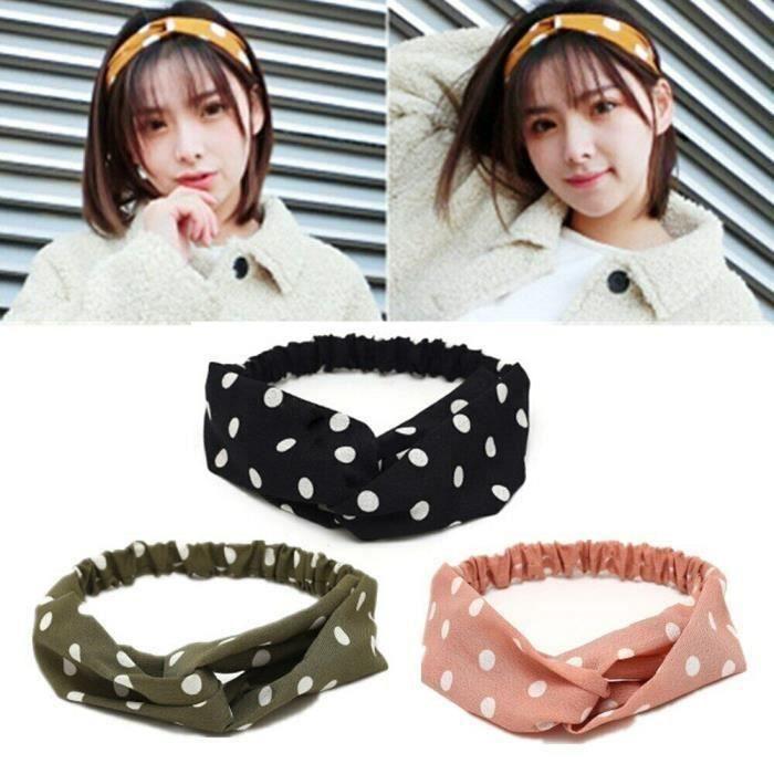 Headbands Élastique Bandeaux Cheveux Femme, Fil flexible Headbands Accessoires pour Cheveux -Rose