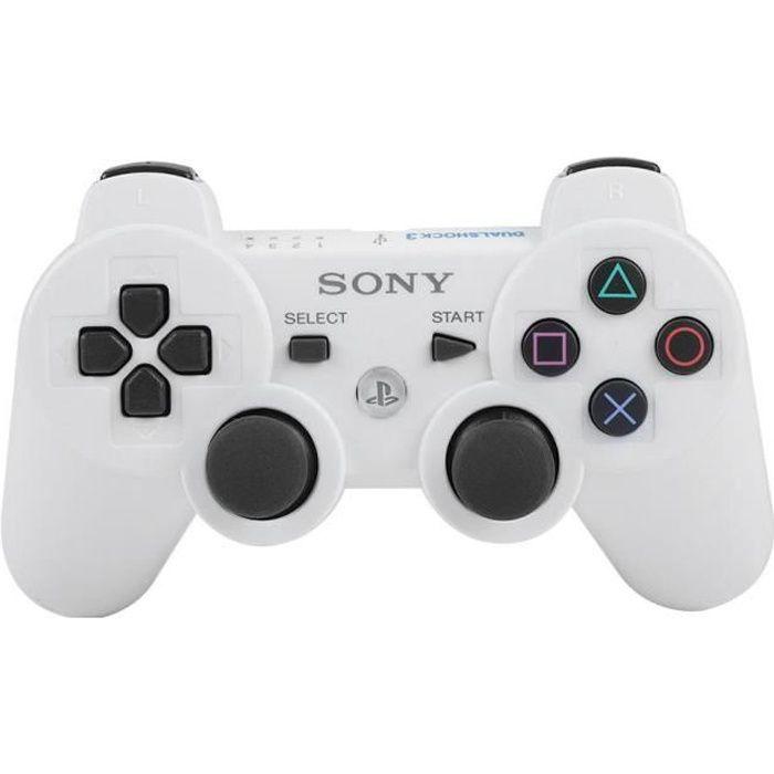Manette de jeu sans fil Bluetooth pour manette de jeu complète pour Ps3 (blanc) Che