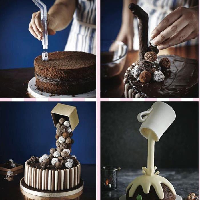 Cake Support Structure Frame Anti Gravity Cake Pouring Kit DIY Cake Baking Tools