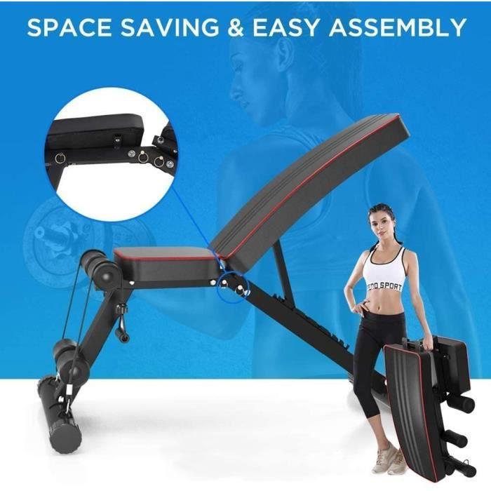 NEUF Banc de Musculation Réglable ,Pliable ,Sit-up Fitness, Formation à domicile