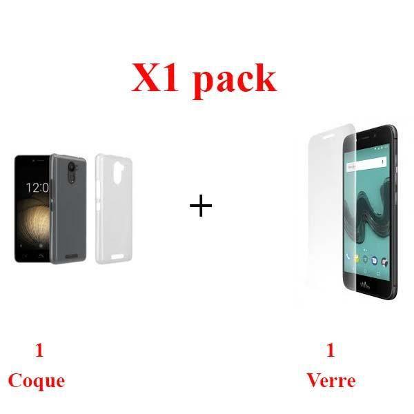 X1 pack pack verre + coque WIKO WIM LITE haute resistance
