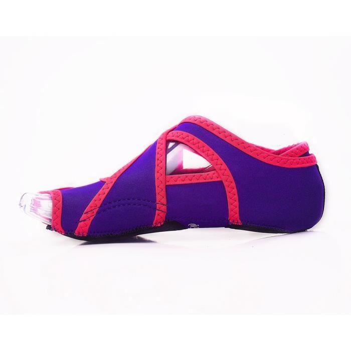 Accessoires Fitness - Musculation,1 paire de femmes professionnelles antidérapant Sport Pilates élasticité - Type VIOLET-M (37-38)