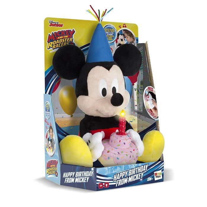 IMC 184244 Jouet chantant en peluche avec un joyeux anniversaire Mickey Mouse