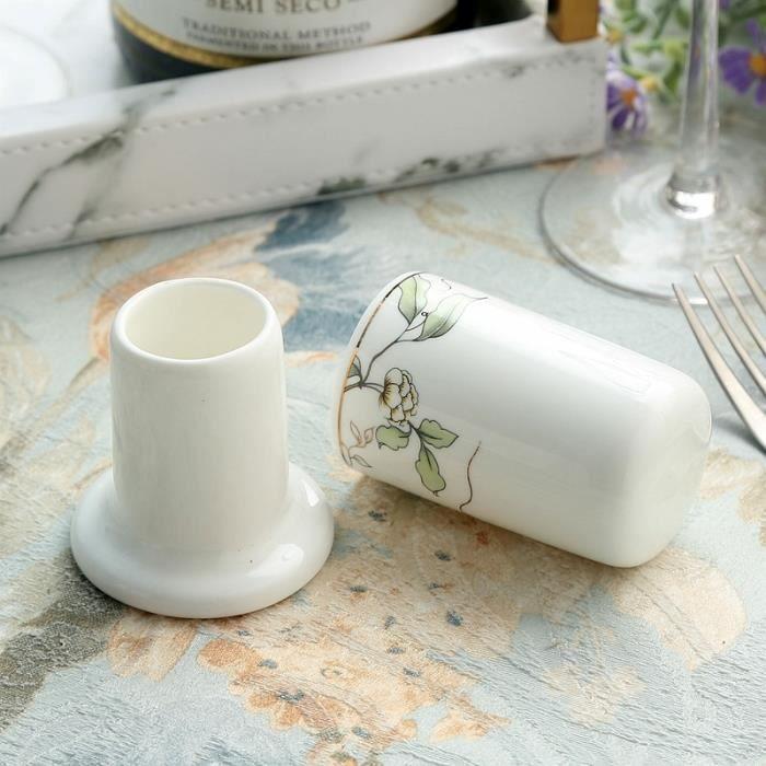 Ustensile de cuisine,Porte cure dents en porcelaine Support en céramique personnalisé, boîte à cure dents à la mode, décoration de
