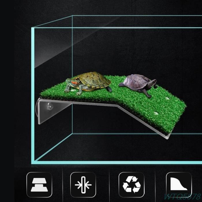 Décoration - aquarium,Plate forme de bassin en acrylique, Aquariums, tortue, île, accessoires pour aquarium, fournitures - Type S