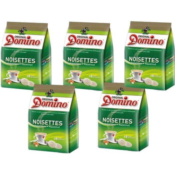 DOMINO Café Noisette 5x18 dosettes souples