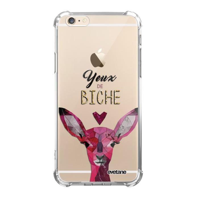 Coque iPhone 6 iPhone 6S anti-choc souple avec angles renforcés transparente Yeux De Biche Tendance Evetane
