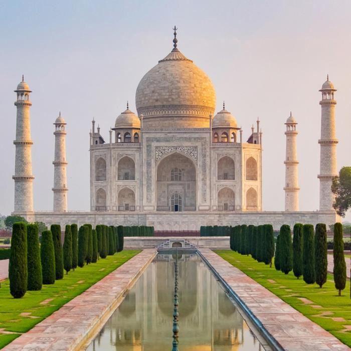 Poster Affiche Taj Mahal Inde Merveille du Monde Monument Agra 42cm x 42cm