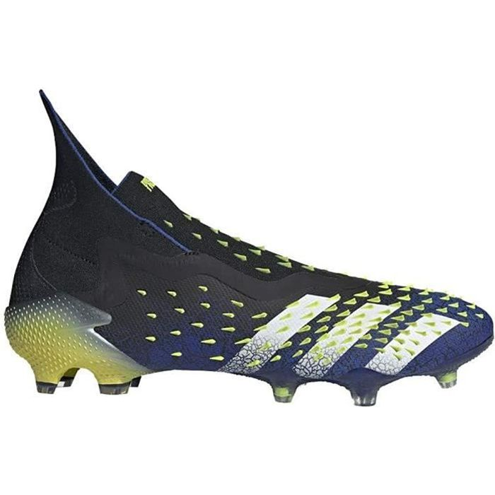 Adidas Predator Freak + Fg, Chaussures de Football, Black-White-Solar Jaune, Taille 8 UK (42 Eu )