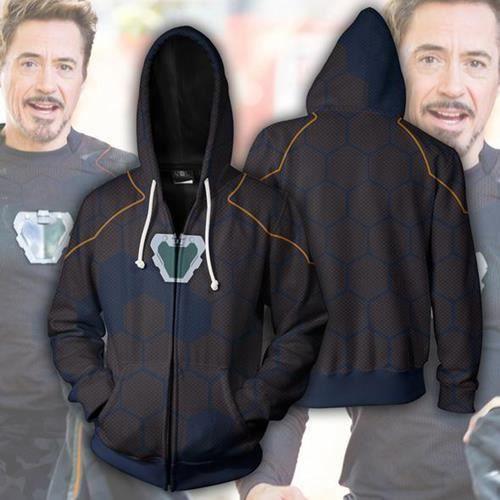 Sweats à capuche imprimés en 3d,Sweat-shirt à capuche de Super héros du film Iron Man, Tony Stark, Costume de Cosplay, veste et man