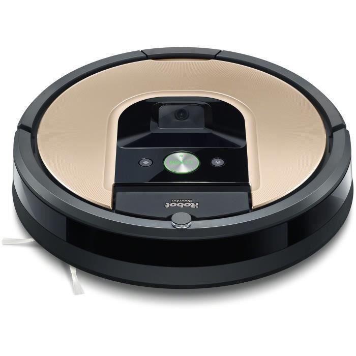 iRobot Roomba 974 - Aspirateur Robot connecté Wifi avec forte puissance d'aspiration - Autonomie 90 min - 58 dB