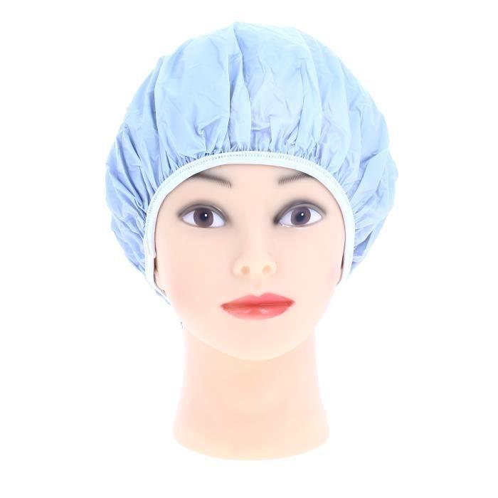 Sibel Bonnet douche plastique Bleu ciel