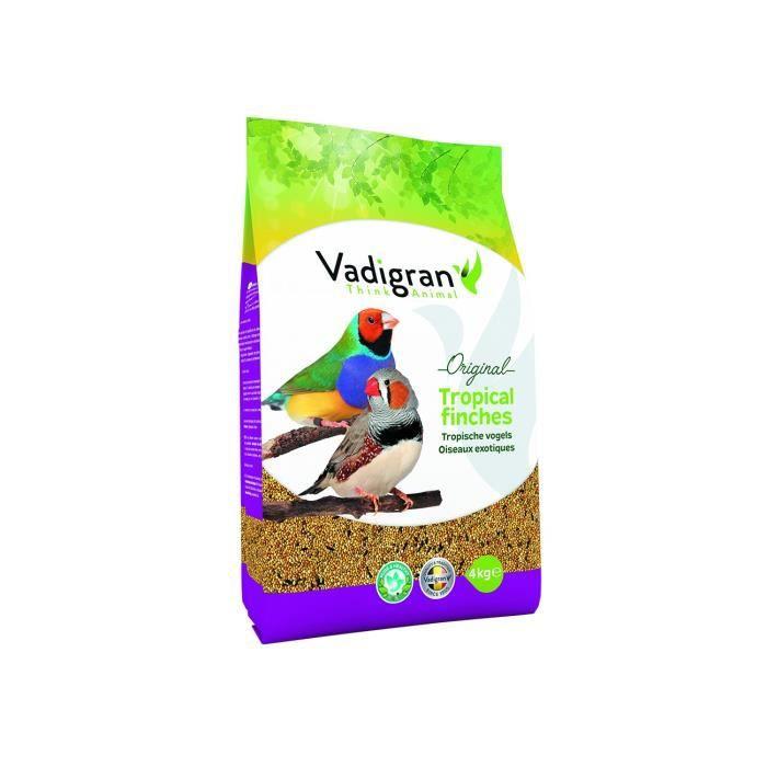 Vadigran - Graines original pour OISEAUX exotiques 4Kg