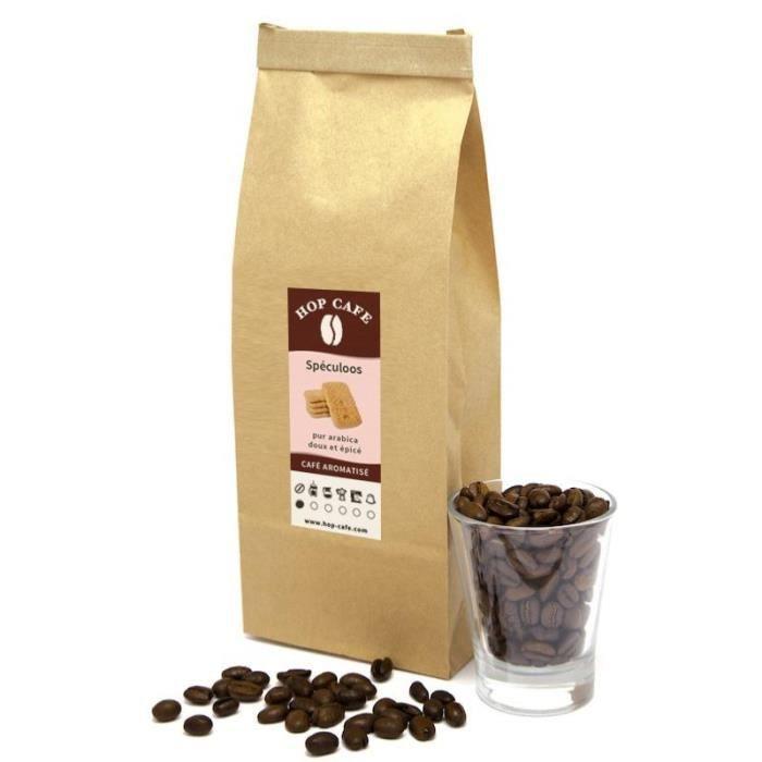 CAFÉ Café en grains aromatisé Spéculoos - 1Kg