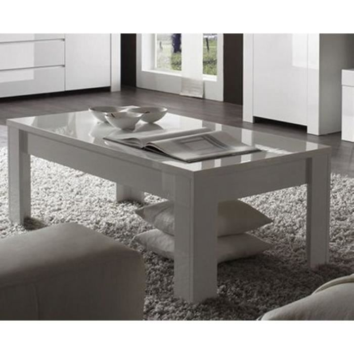 Table basse moderne blanche trendy meuble house achat - Table basse moderne blanche ...