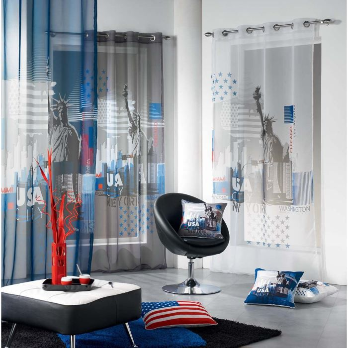 Rideaux new york for Decoration porte new york