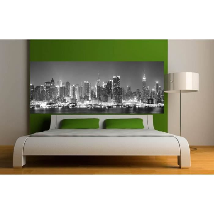 stickers t te de lit d co chambre new york dime achat vente stickers cdiscount. Black Bedroom Furniture Sets. Home Design Ideas