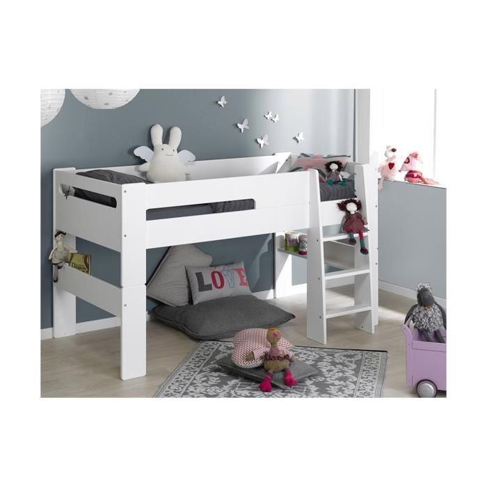lit mi hauteur enfant london 90 200 achat vente lit mezzanine lit mi hauteur enfant londo. Black Bedroom Furniture Sets. Home Design Ideas