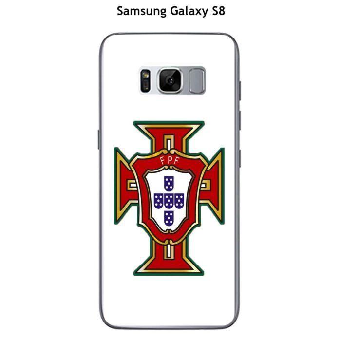 Coque Samsung Galaxy S8 design Foot Portugal fond blanc ...