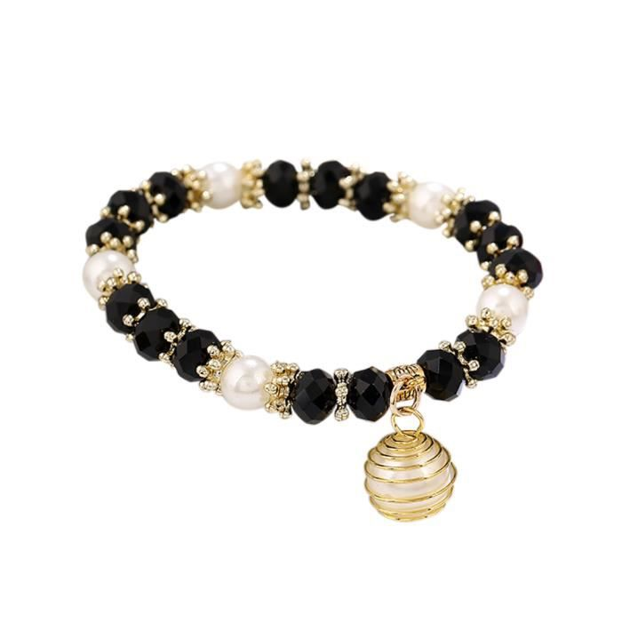 Imitations de perles Main de Fatima Bracelet Femmes Bijoux En Acier Inoxydable Bracelets