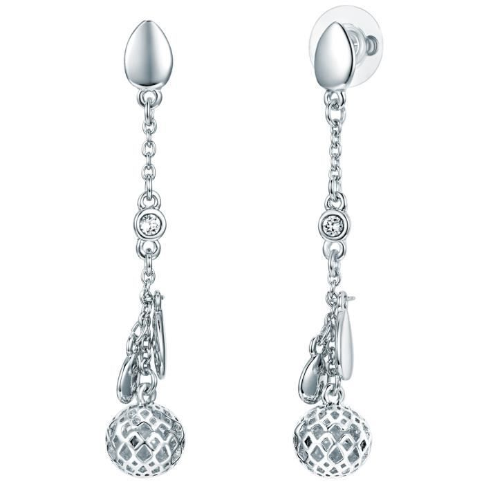 Lulu Jane Boucles doreilles MADE WITH SWAROVSKI® ELEMENTS blanc ... 9e26d76b60b2