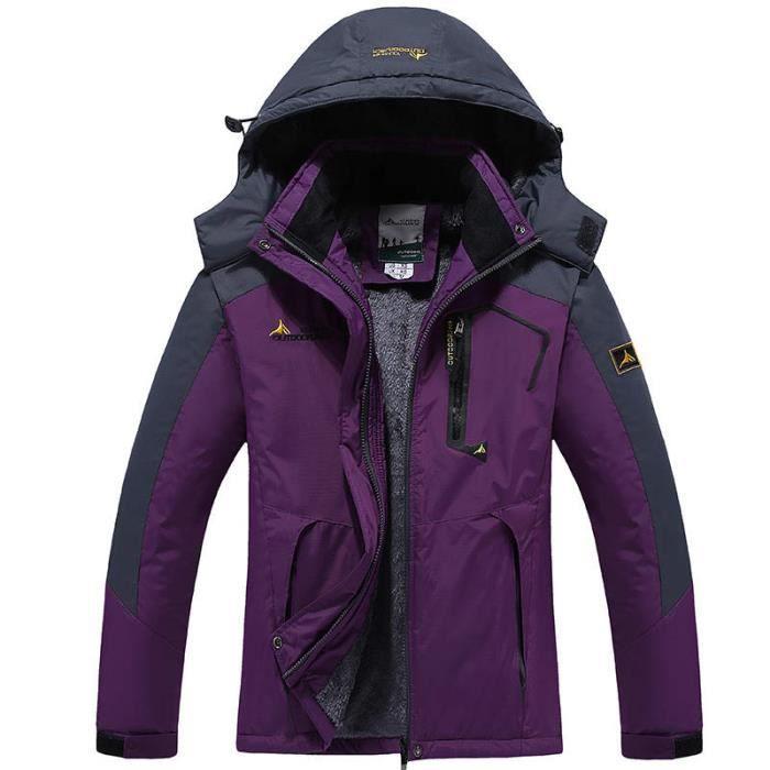 Combinaison ski femme violet