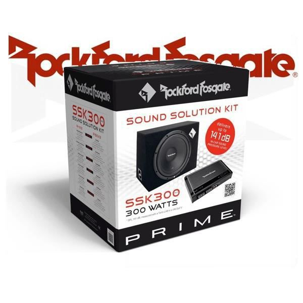 SUBWOOFER VOITURE ROCKFORD FOSGATE SOUND SOLUTION KIT SSK 300 MK III