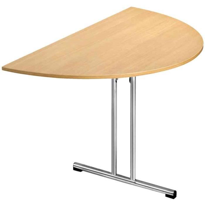 Table pliante chromeline1 demi rond h tre achat - Table de cuisine pliable ...