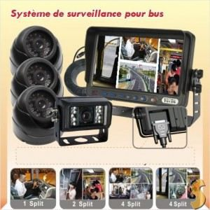 kit 4 cameras de surveillance pour bus ou achat vente radar de recul kit 4 cameras de. Black Bedroom Furniture Sets. Home Design Ideas