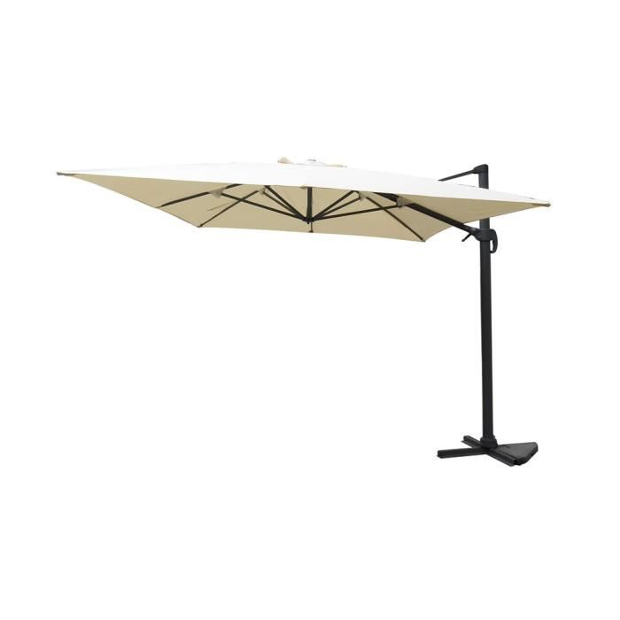 parasol d port rectangulaire db07 beige achat vente. Black Bedroom Furniture Sets. Home Design Ideas