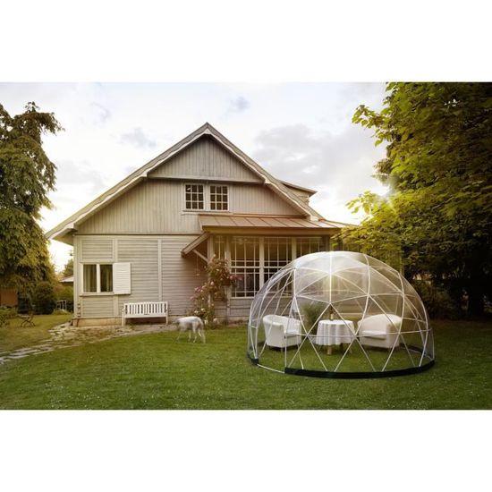 GARDEN IGLOO Abri de jardin en PVC recyclé 10m² - Ø 360 x H 220 cm