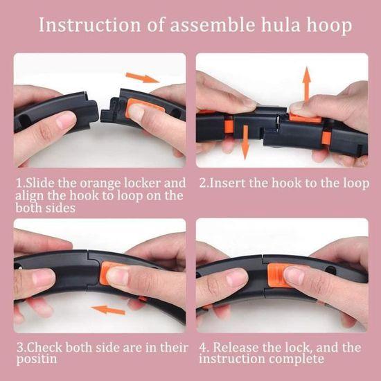 pneus avec mousse env 6-8 segments amovibles pour adultes et enfants 1 kg avec mini m/ètre ruban et corde /à sauter SENYERGIANT Hula Hoop pour la perte de poids