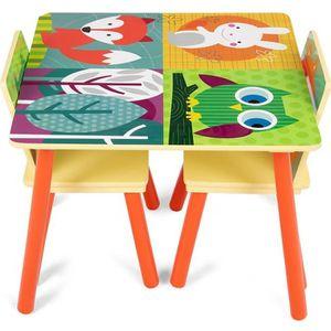 TABLE ET CHAISE Giantex Ensemble de Meubles pour Enfant Comprenant