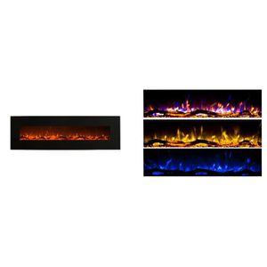 CHEMINÉE Cheminée électrique 152cm - 3 couleurs  - Noire