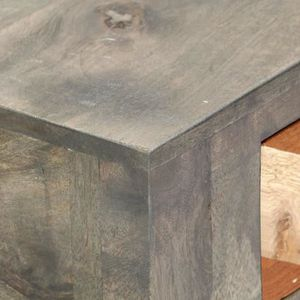 CONSOLE Table console Gris 86 x 30 x 76 cm Bois de manguie