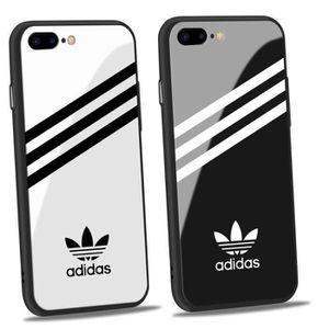 2pcs adidas coque iphone 7 7s verre coque blanc