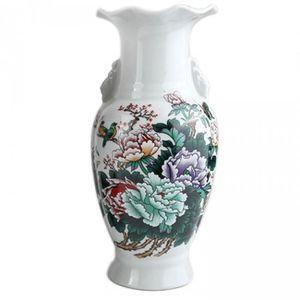 VASE - SOLIFLORE Vase De Décoration Asiatique - Motif Symboles De P