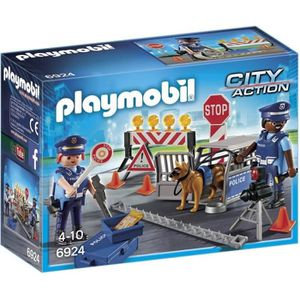UNIVERS MINIATURE PLAYMOBIL 6924 - City Action - Barrage de Police