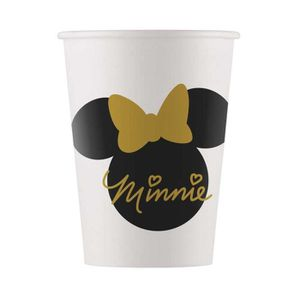 VERRE JETABLE 8 Gobelets en carton Minnie Gold 160 ml - Coloré