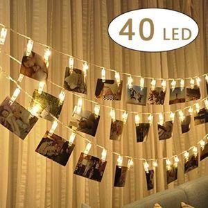 GUIRLANDE LUMINEUSE INT MC 40 LED Guirlande-clip lumineuse à piles - Batte