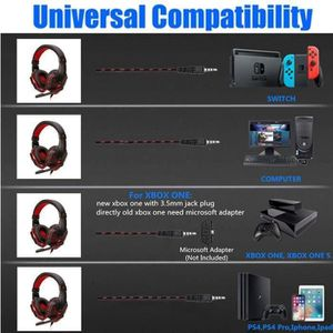 CASQUE AVEC MICROPHONE Casque Gamer Compatible Ps4 Switch - Usb 3.5Mm - M